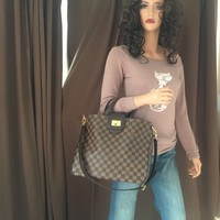 Authentic Louis Vuitton Damier Ebene Rosebery Shoulder Handbag