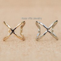 Set of 2 - X Rings - You pick the color!