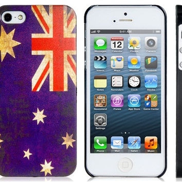Australia Flag Plastic Case for iPhone 5S/S