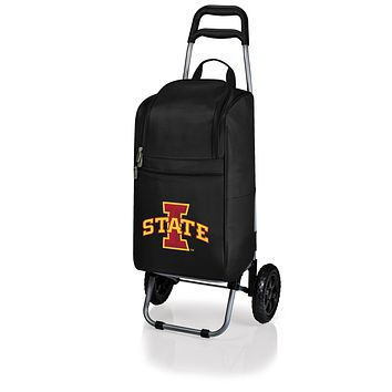 Iowa State Cyclones Cart Cooler with Trolley-Black Digital Print