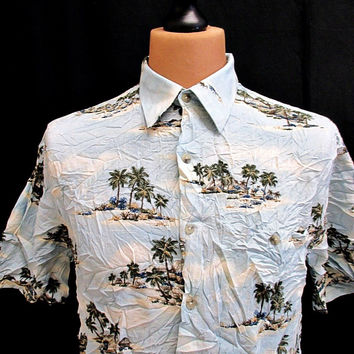 Vintage Croft And Barrow Islands Hawaiian Shirt Medium