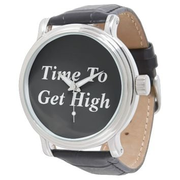 Mens Weed Watch 'Time to Get High'