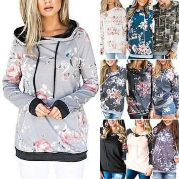 Boho Chic Floral Print Hoodie Sweater (10 Options)