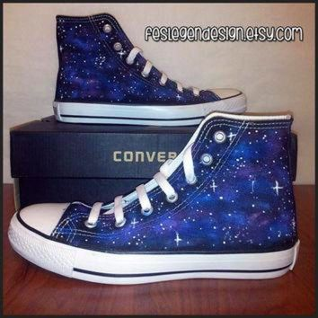CREYUG7 Galaxy Painted Shoes / Custom Converse