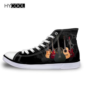 2018 HYCOOL BackTo School Sneakers for Boys/Girls w/ Rock Guitar Pattern