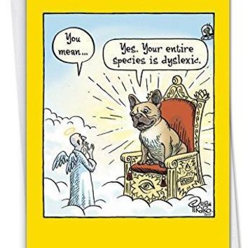 Dyslexic God - Hilarious Birthday Card, with Envelope. - Funny birthday card - Free Shipping