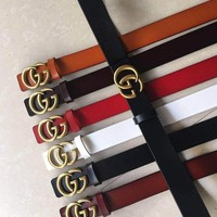 Gucci Fashion Women Men Long Belt  Five Color Belt