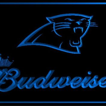 B-204 Budweiser Carolina Panthers beer bar pub club 3d signs LED Neon Light Sign man cave