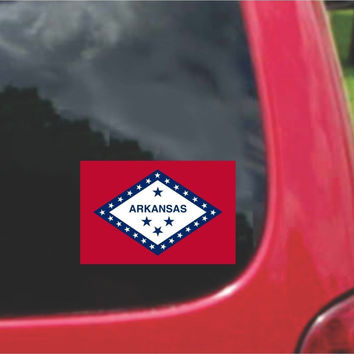 Arkansas State Flag Vinyl Decal Sticker Full Color/Weather Proof.