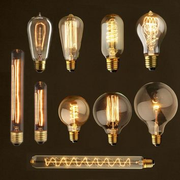 Edison bulb lampada retro lamp E27 220V incandescent ampoule vintage Lamp edison Bulb filament Light bulb For Pendant decor 40W