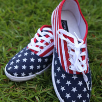 Miss America Sneakers: Red, White, & Blue