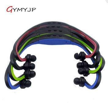 hot  wireless headphone sports Bluetooth headset Mp3 music player card features earphone with microphone