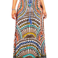 Desert Arc Maxi Skirt