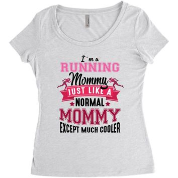 cc45f982 running mommy Women's Triblend Scoop T-shirt