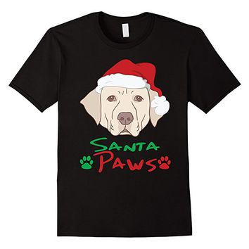 Labrador Dog Santa Paws T-shirt - Funny Dog Christmas Shirt