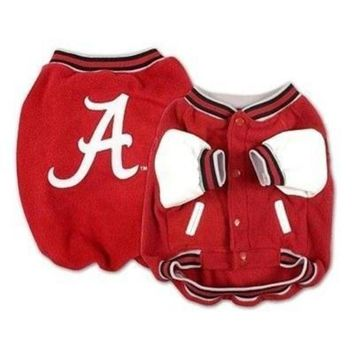 ONETOW Alabama Crimson Tide Varsity Dog Jacket