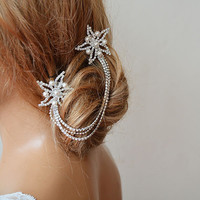 Wedding Hair Accessory, Bridal Headbands,  Rhinestone Star Headband, Wedding Hair Clip, Wedding Hair Vine