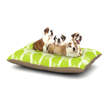 "Anchobee ""Pinya Lime"" Green Pattern Dog Bed"