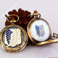 Attack on Titan pocket watch.Shingeki no Kyojin jewerly.Attack on Titan Jewerly