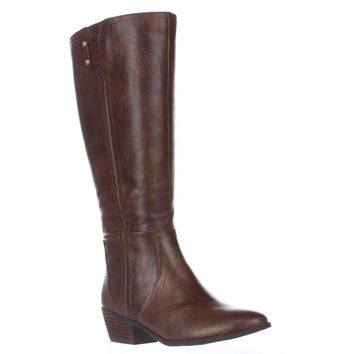 Dr. Scholl's Brilliance Wide Calf Riding Boots, Whiskey, 9.5 US / 39.5 EU