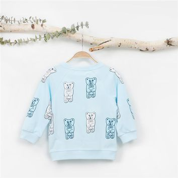 EnkeliBB Kids Autumn Sweatshirt Cartoon Lovely Baby Clothes Girls/Boys Brand Design Tops Children Unicorn Clothing KIKIKIDS