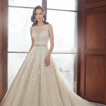 Beaded Lace Gown by Sophia Tolli