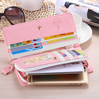 FLOVEME General Wallet Case For iPhone 6 6s Plus 4s 5s 5c 5SE Samsung Galaxy S7 S6 Edge S5 S4 S3 S2 E5 E7 Cover Woman Handbags