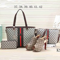 GUCCI NEW Women's Counters Stylish High Quality Four-piece F-KSPJ-BBDL coffee