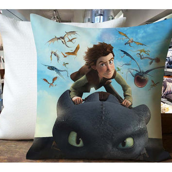 How to train all dragon - Housewares , Home Decor , Pillow Case One Side / Two Sides Design