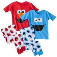 Elmo Toddler Boys' 4-Piece Short-Sleeve Pajama Set