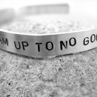 Harry Potter Stamped Bracelet I Solemnly Swear That I by foxwise