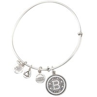 Boston Bruins Alex and Ani Russian Silver Hub Logo Charm Bracelet
