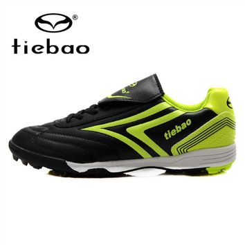 TIEBAO Professional Men Women Football Boots Outdoor Soccer Shoes TF Turf Rubber Sole Athletic Ttaining Shoes Parent-Kid Shoes
