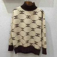 Gucci Fashion Casual Women Long Sleeve High Neck Double G Pullover Sweater G
