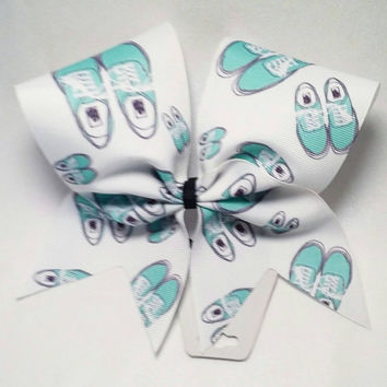 Vans Cheer Bow- 3 Inch Texas Size - Cheer Party - Theme Practice - Birthday Gift - Ponytail Accessory