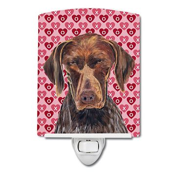 German Shorthaired Pointer Hearts Love and Valentine's Day Ceramic Night Light SC9244CNL
