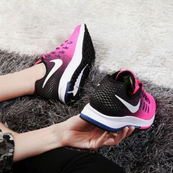 """NIKE"" Woman Men Trending Fashion Casual Sports Shoes Pink/Black"