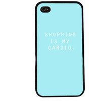 Shopping is My Cardio Case / Tiffany Blue iPhone 4 Case Family iPhone 5 Case iPhone 4S Case iPhone 5S Case Cute Quote Love Phone Case