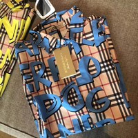 Burberry Graffiti Print Vintage Check Cotton Shirt