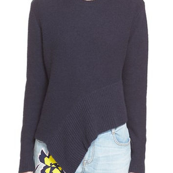 Asymmetrical Cashmere & Silk Sweater
