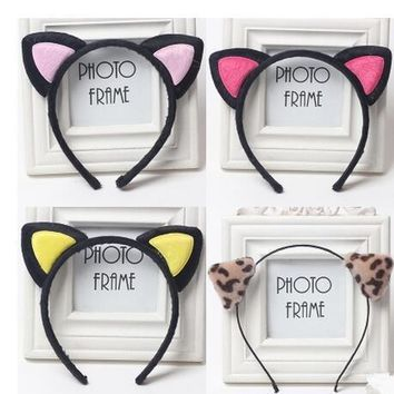 2017 Cute Headwear Heart Cat Ears Character Headbands for Women Party Adult Hello Kitty Hair Accessories