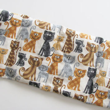 Microwave Heating Pad Wrap, Hot or Cold Therapy For Neck, Joints, Lower Back, Cramps, Pain Relief, Unscented Hypoallergenic, Cartoon Cats