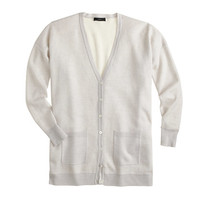 J.Crew Womens Double-Knit Merino Wool Boyfriend V-Neck Cardigan