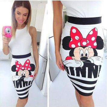 VONE05W5 minnie mouse women cartoon character clothes female miki clothing 8939