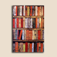 Fine Art Abstract Books Painting 24 x 36 x by ContemporaryEarthArt