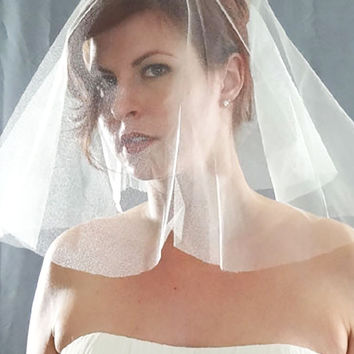 Silk Tulle Veil - English