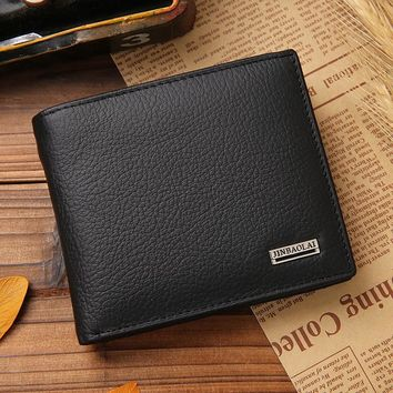 Luxury Brand Genuine Leather Wallet Fashion Short Bifold Men Wallet Casual Soild Men Wallets With Coin Pocket Purse Male Wallet