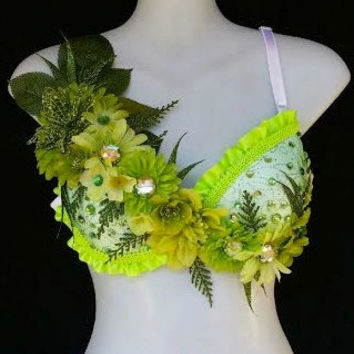 Green Pixie Bra- Pre made 34C