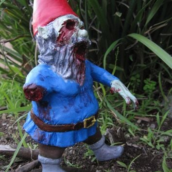 Zombie Gnomes Patient ZERO5 by ChrisandJanesPlace on Etsy
