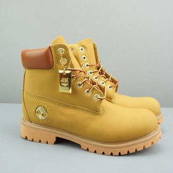 Timberland Leather Lace-Up Icon Premium Boot High Yellow Brown